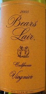 Bears' Lair 2005 Viognier (front) | by 2 Guys Uncorked