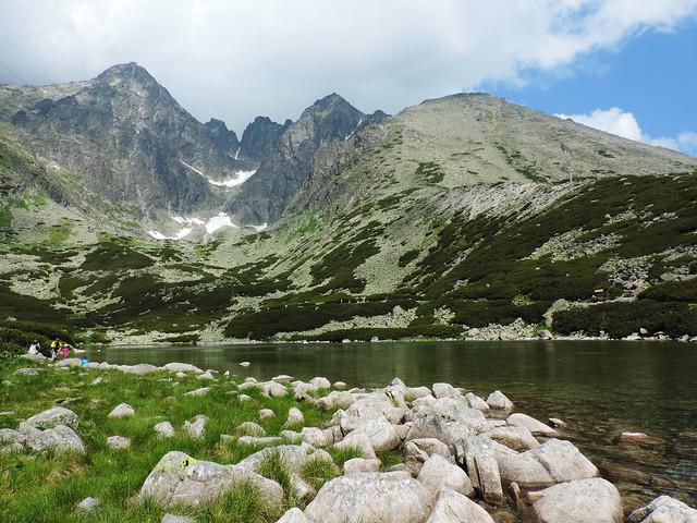 Alpine lakes: Skalnaté pleso, High Tatras, Slovakia
