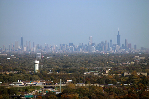 Chicago Skyline From The Western Suburbs B V Flickr