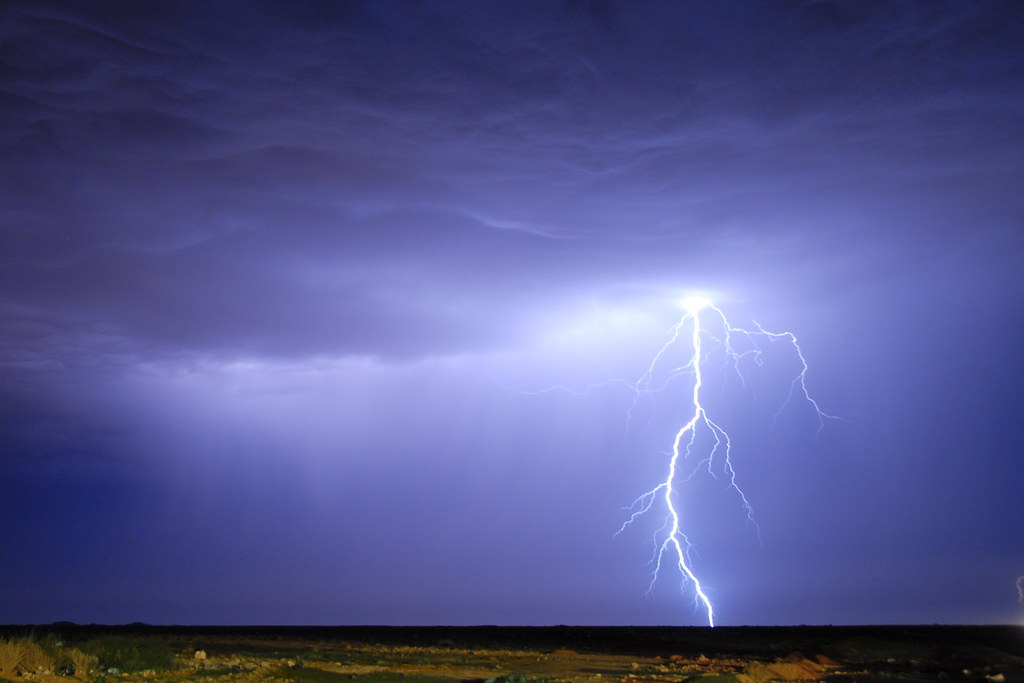 Lightning In The Western Sahara Lightning Storm Just