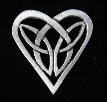 Celtic Heart Pin A Little Celtic Heart Pin I Made In The