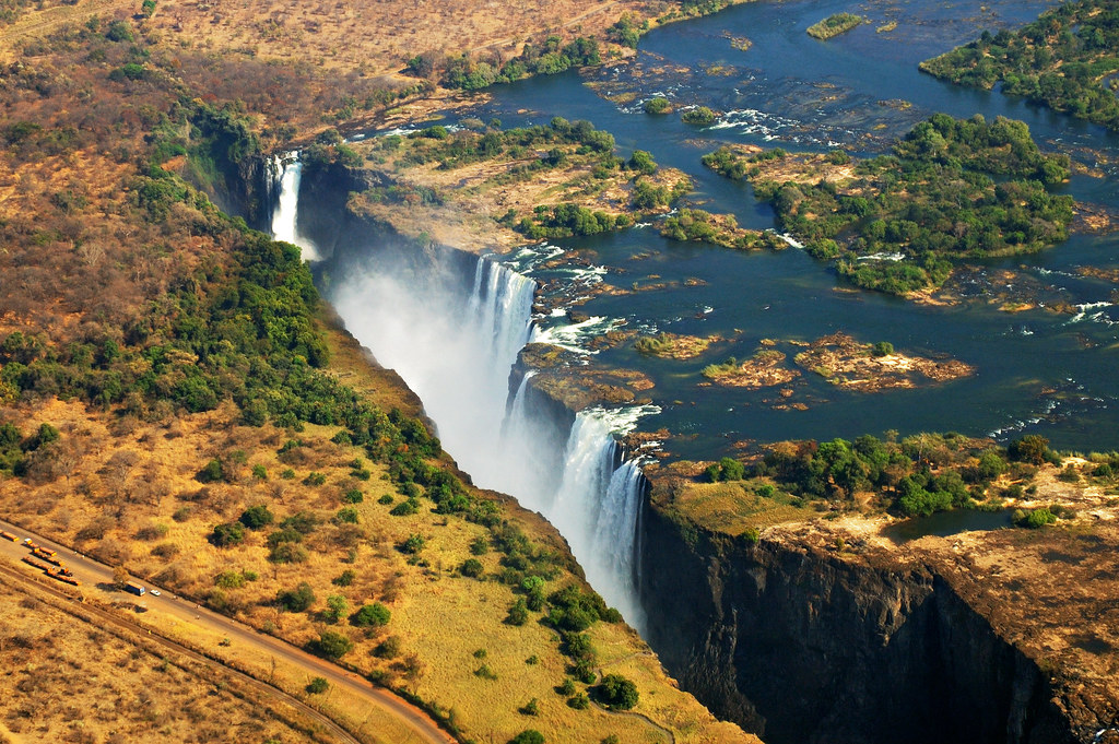 Falls in the bush - Zambia