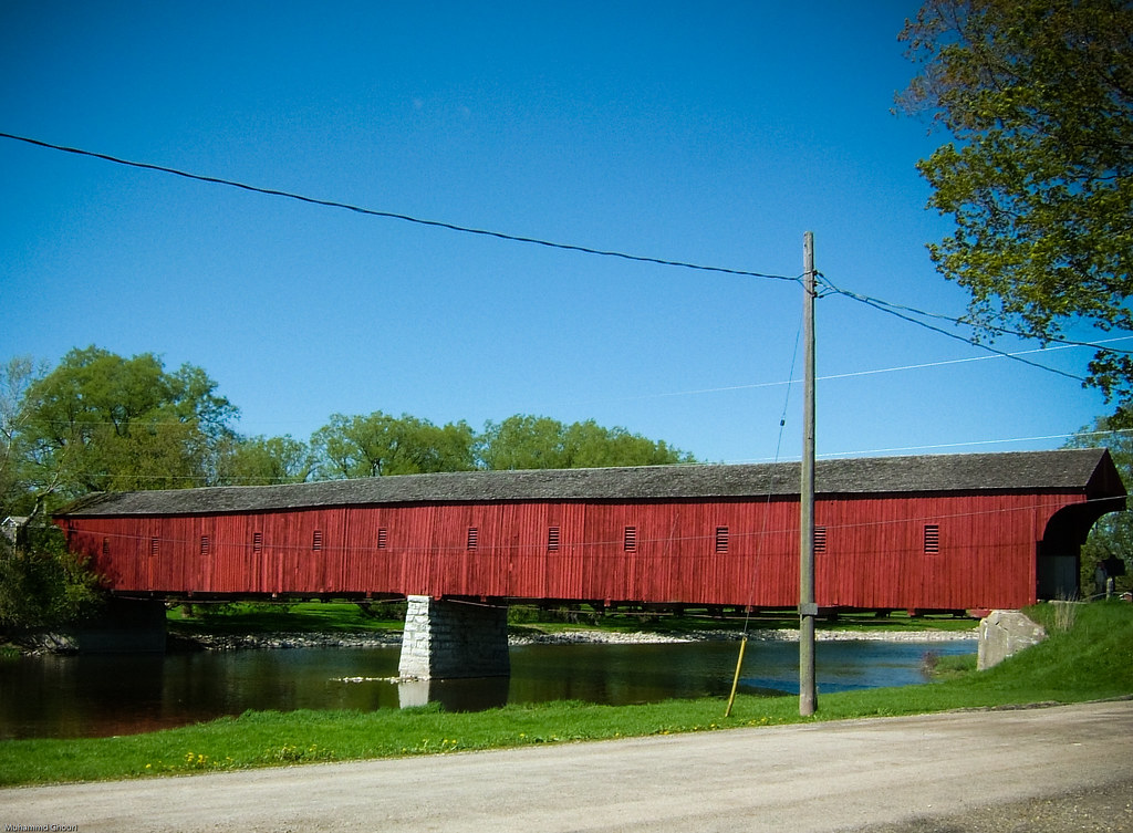 Covered Bridge West Montrose Covered Bridge Ontario