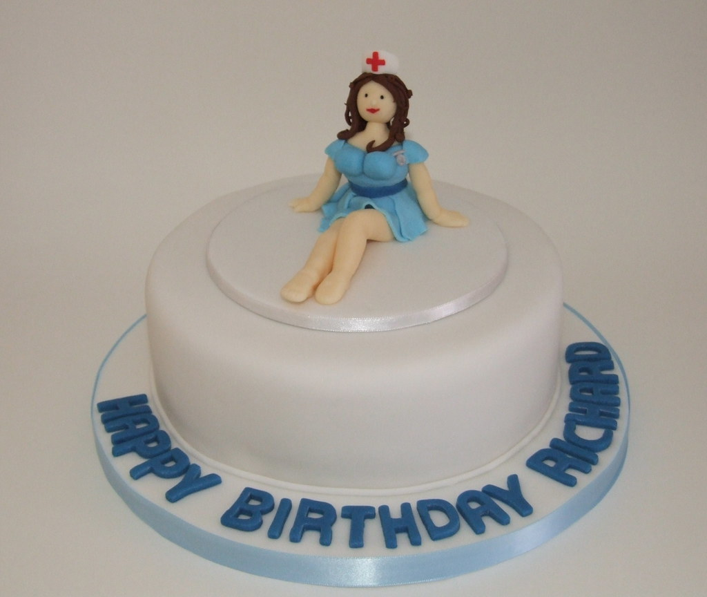 Naughty Nurse Cake Naughty Nurse Cake For An Overworked D Flickr