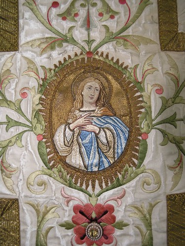 Ludham church textiles exhibition embroidered chasuble