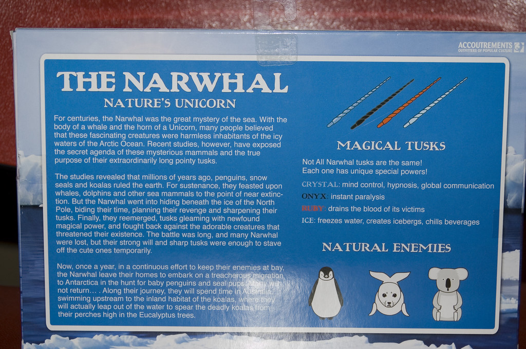 The Avenging Narwhal Box Back John Flickr