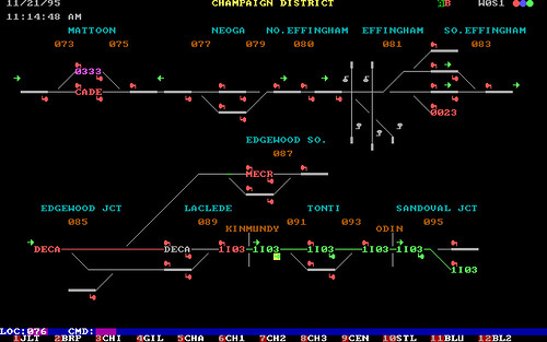 Ic Champaign District Dispatcher Overview Screen This Is