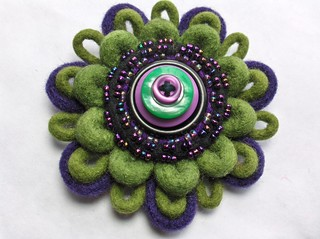 felt brooch | by woolly  fabulous