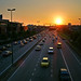 Sunset - over expressway