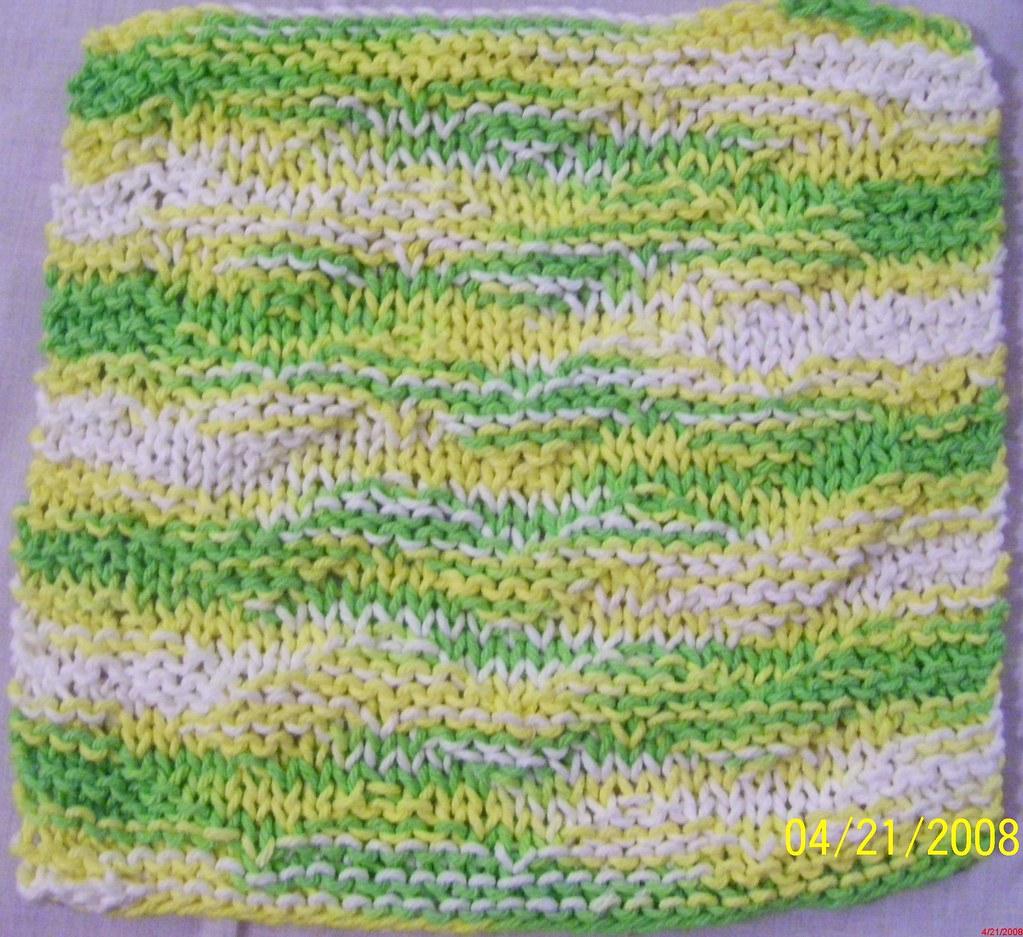 DISHCLOTH 04 Knitted dishcloth with a zigzag pattern Heidi B Flickr