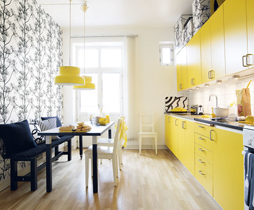 ... yellow black white kitchen | by The Sugar Monster
