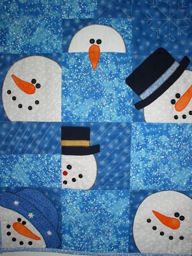 Snowman Quilt Packagethiefnj Flickr