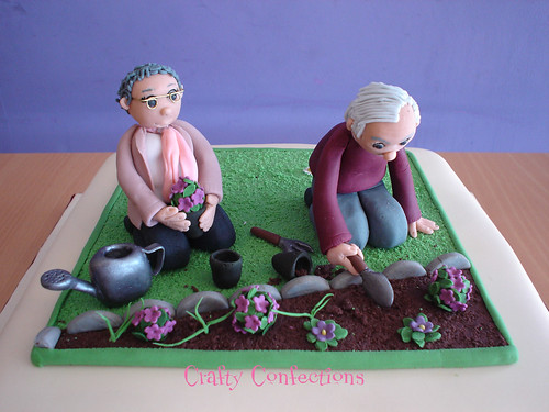 Gardening 80th Birthday Cake Of 80th Birthday Garden Cake Topper Close Up Of The Topper