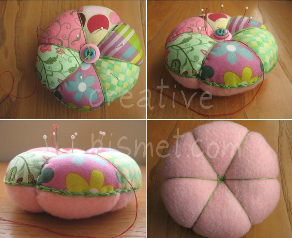 patchwork pincushion tutorial blogged patchwork pincushion flickr. Black Bedroom Furniture Sets. Home Design Ideas