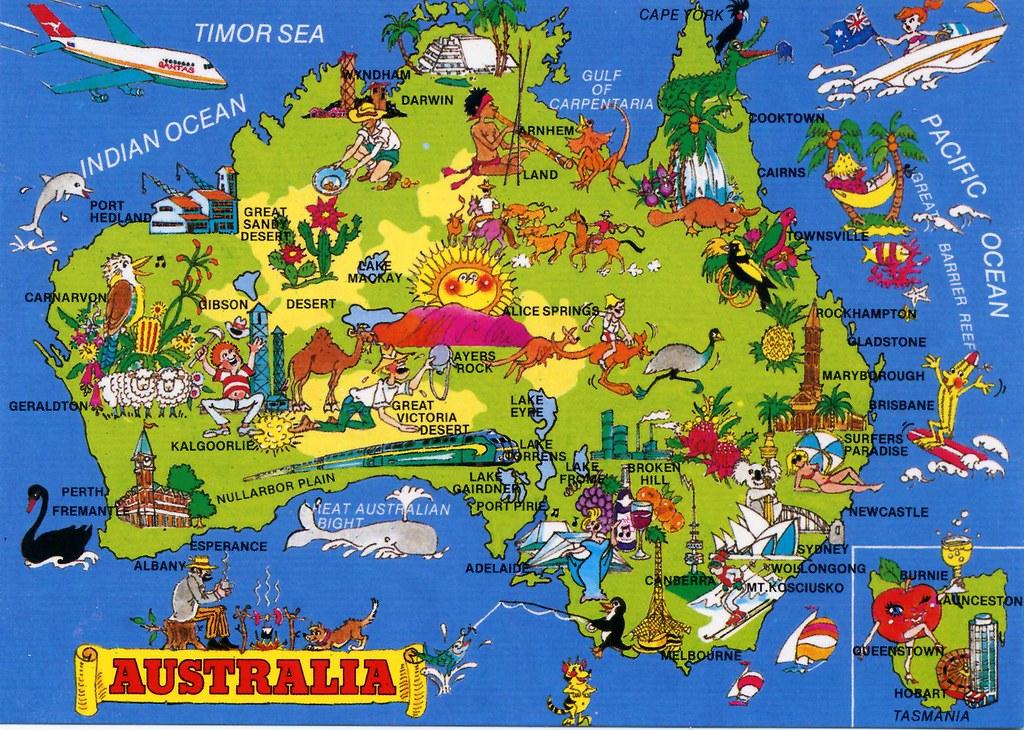 Australia Map Card Lessa citysleepsalone desde