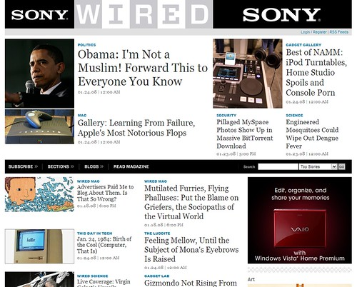 Wired / 2008-01-24 / SML Screenshots   www.wired.com   See-ming Lee ...