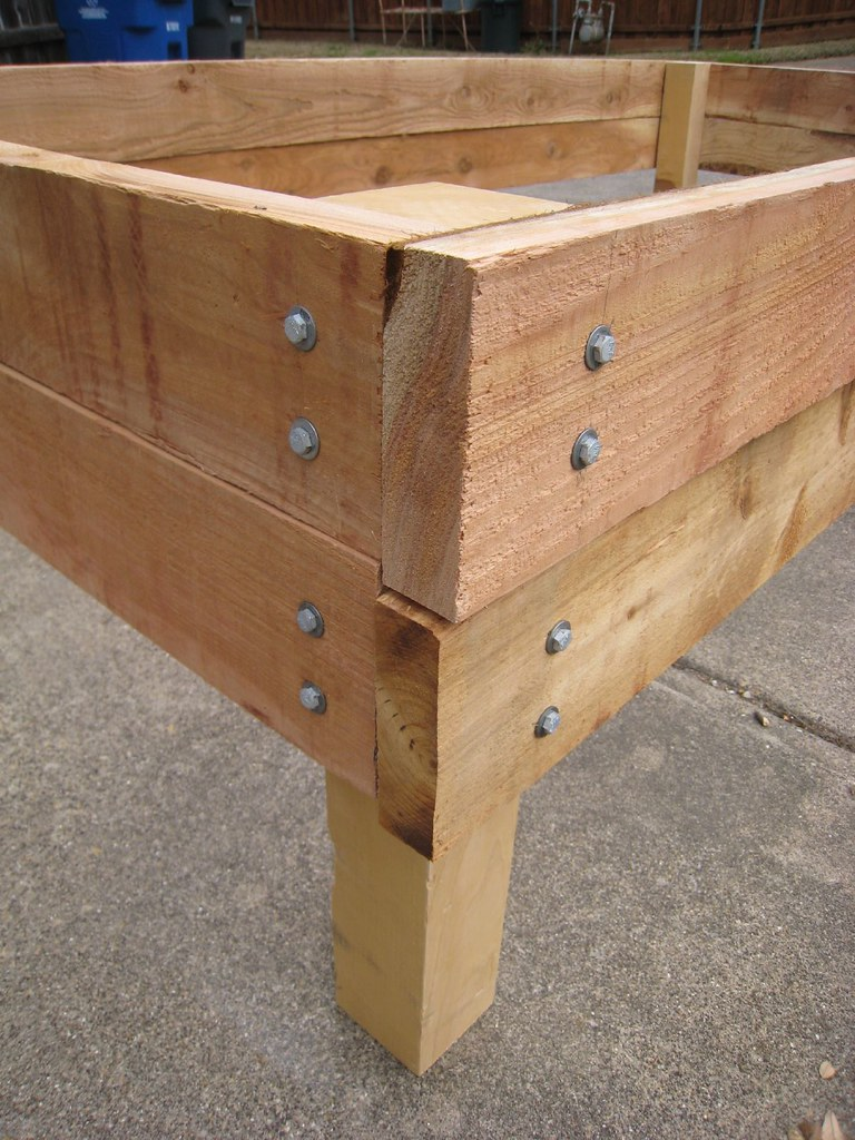Galvanized Lag Screws And Washers On Raised Bed