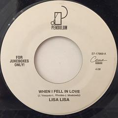 LISA LISA:WHEN I FELL IN LOVE(LABEL SIDE-A)