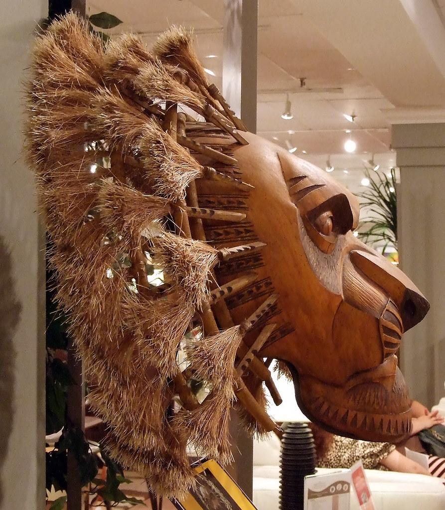 Lion King Broadway Mufasa Mask of Mufasa Lion King