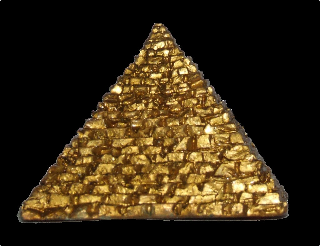 Gold Pyramid This Is An Egyptian Ornament From My