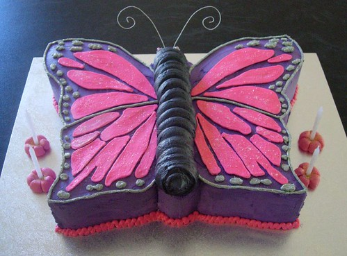 Butterfly Cake Pan Decorating Ideas : Butterfly Cake Classic carved Vanilla Pound cake, torted ...