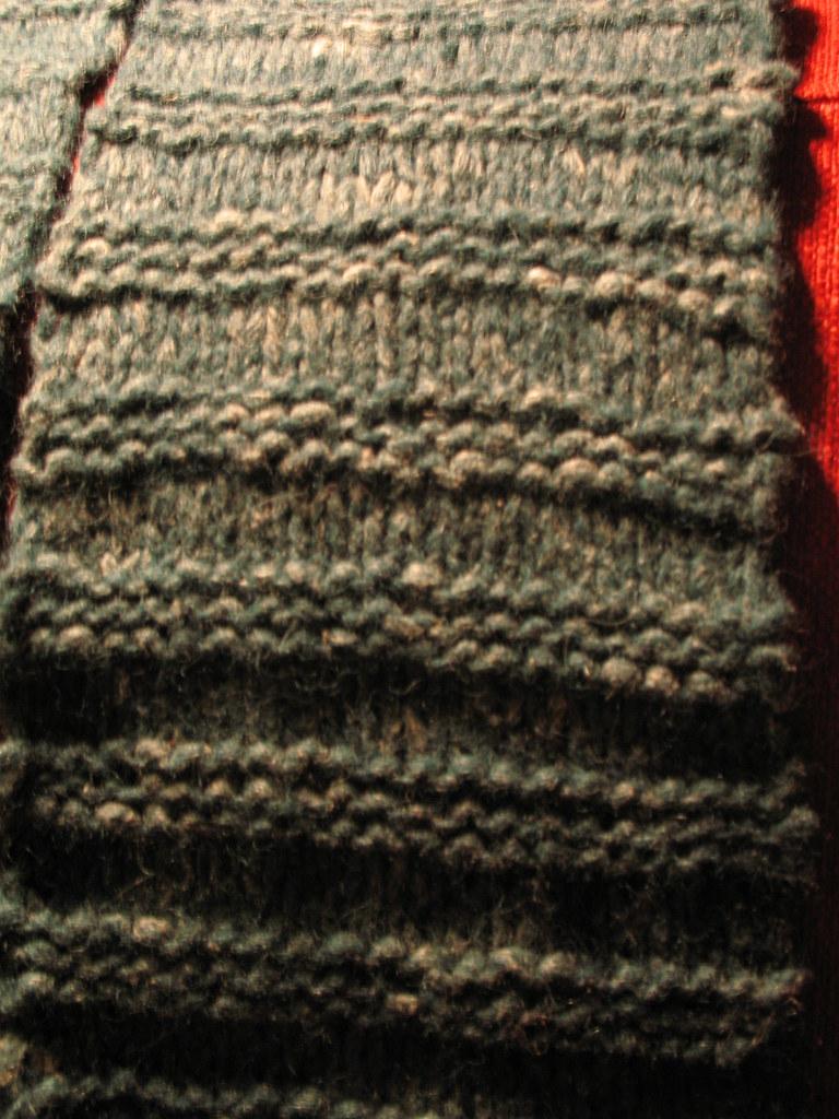 Green Stockinette Stripes A knit scarf. Stockinette stitch? Flickr