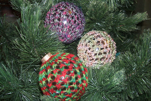 knitted Christmas ball covers | by craftlover21
