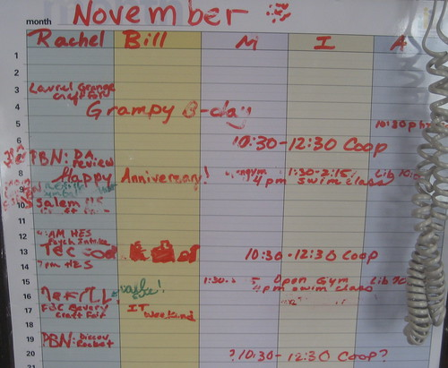 November wipe-off calendar | by mia3mom