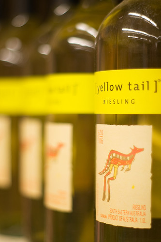 Big As Fan >> Kangaroo Wine | Wine bottles at the grocery store. Yellow Ta… | Flickr