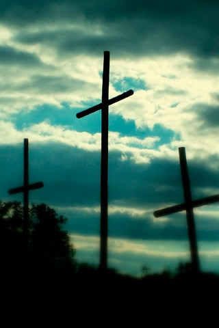 IPhone Wallpaper Old Rugged Crosses