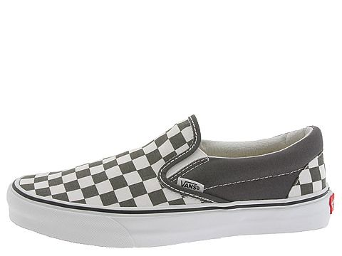 slip on vans checkerboard grey