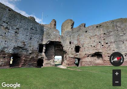 Rhuddlan Castle Google Street View