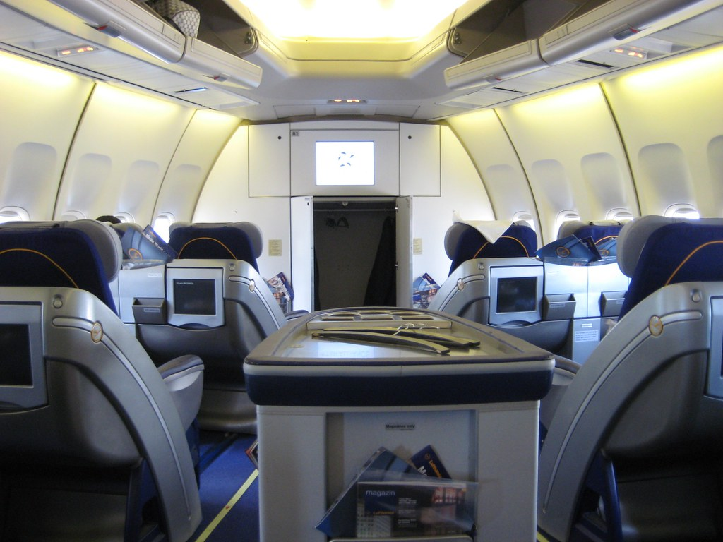 View From My Seat On Lufthansa 747 Business Class Fra Jfk