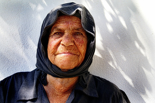 "She asked ... ""Why would you want to take a picture of this old face?"" 