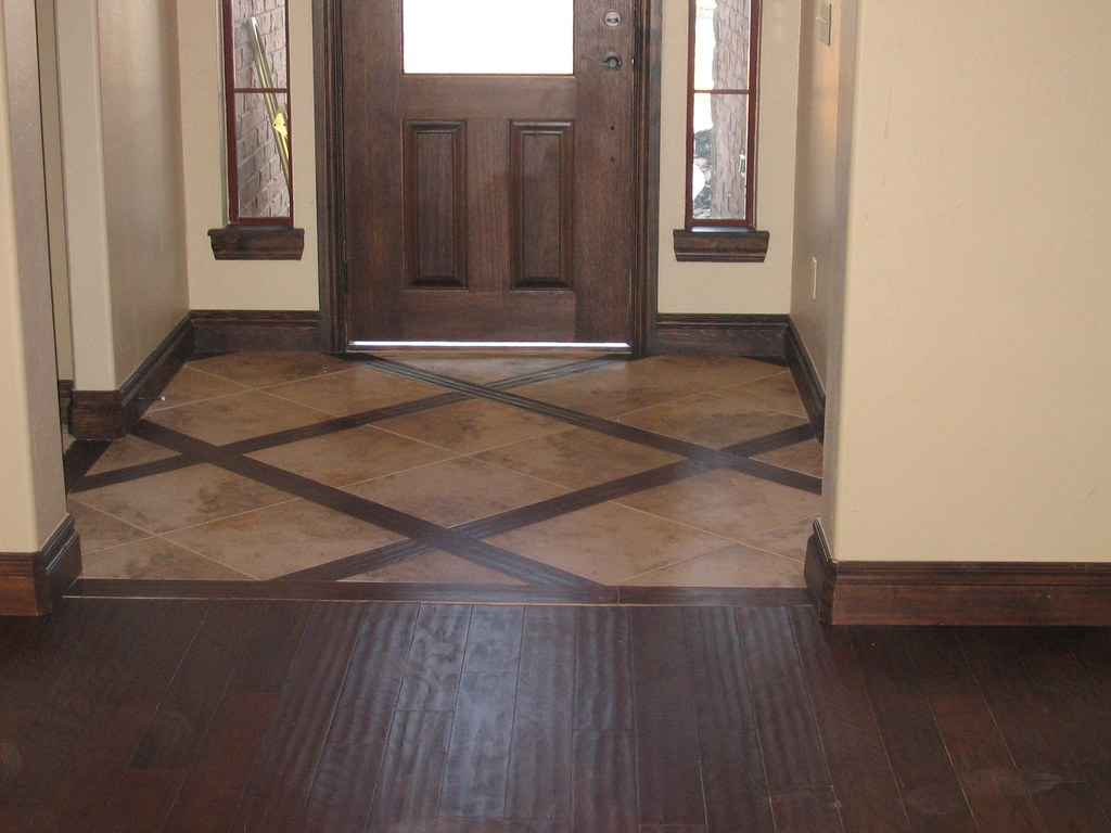 Charmant ... Entryway Tile With Wood Border | By DB Installations