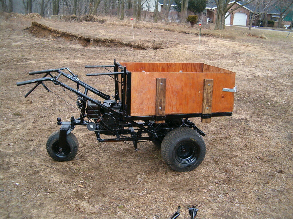 Homemade Power Wheelbarrow It Has A Lawn Tractor Geared