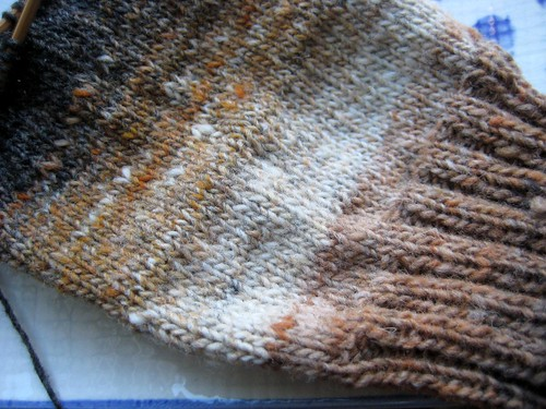Noro Kureyon sock in progress | by Twisted Knitter