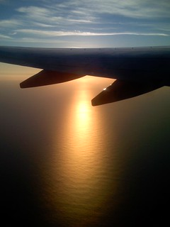 Golden sunset under the 737 wing | by playphil