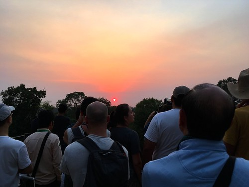 The crowd Pre Rup at sunset