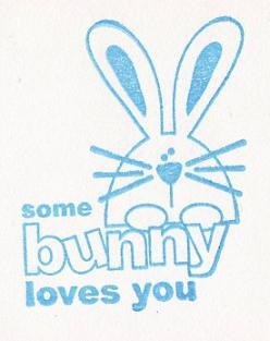 set of 8 dimensional some bunny loves you pastel gingham flickr. Black Bedroom Furniture Sets. Home Design Ideas