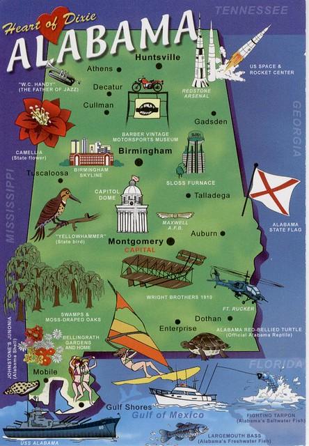 ALABAMA STATE MAP Jocelyn Flickr - Alabama state map