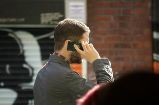 On the phone @ Manchester, UK | by timparkinson