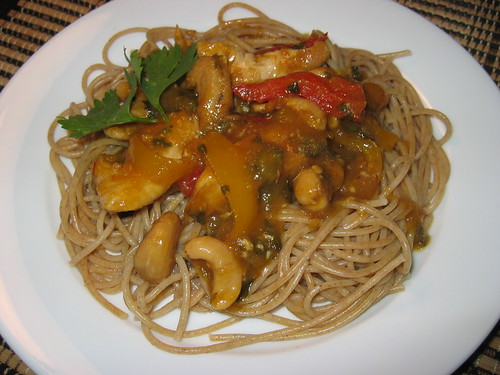 Thai Mango Chicken on Pasta | by Kevin - Closet Cooking