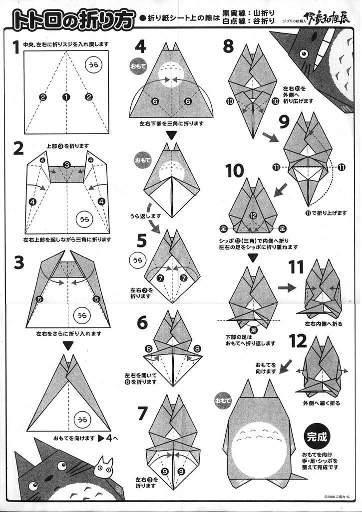 Totoro Origami Instructions Totoro Origami From Totoro Mu Flickr