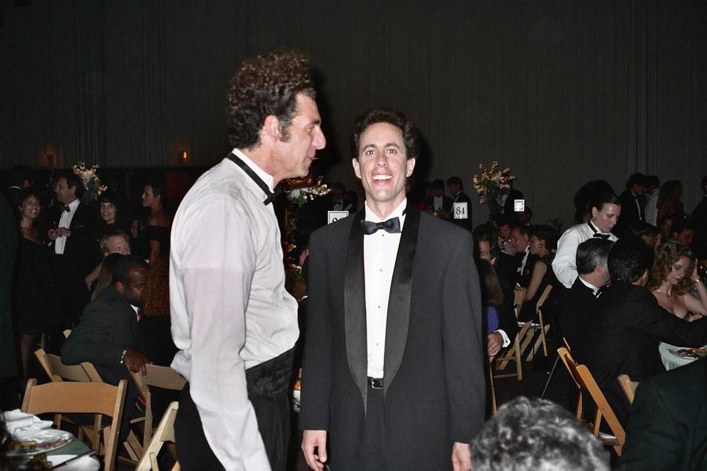 Michael Richards, Jerry Seinfeld   1992 Emmy Awards NOTE ...