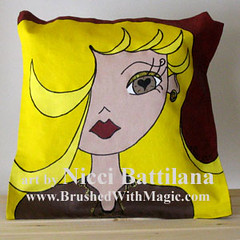 """Farrah""   art cushion-0017 