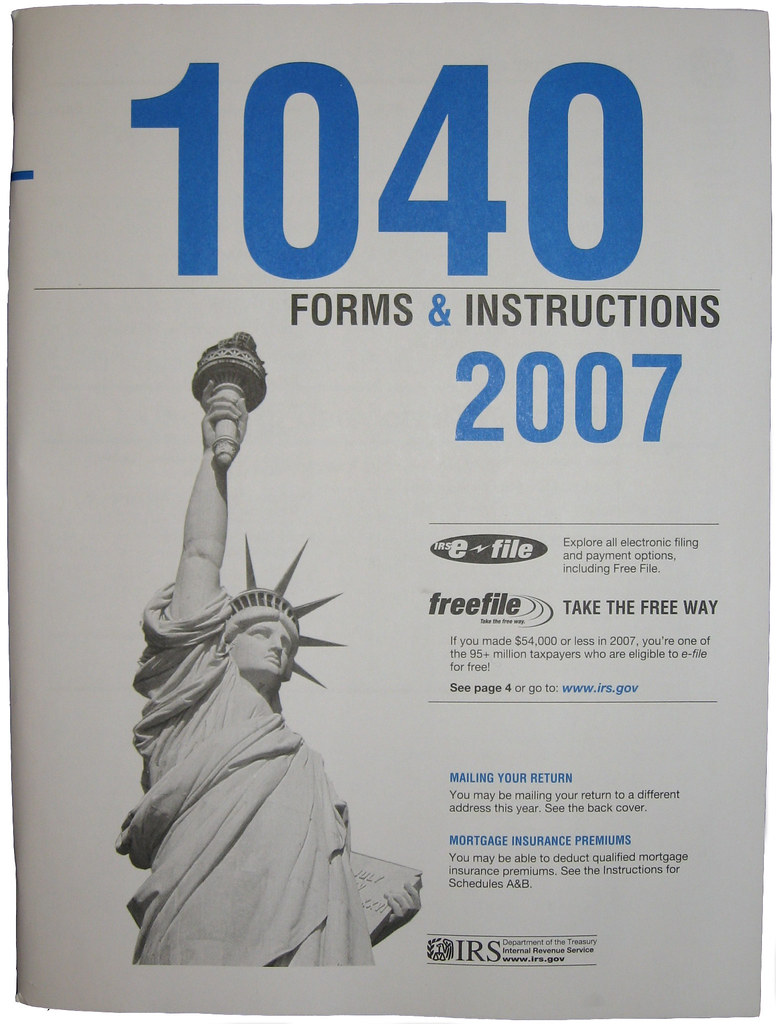 2007 1040 Instructions Tax Forms Are Here Again Read My Flickr