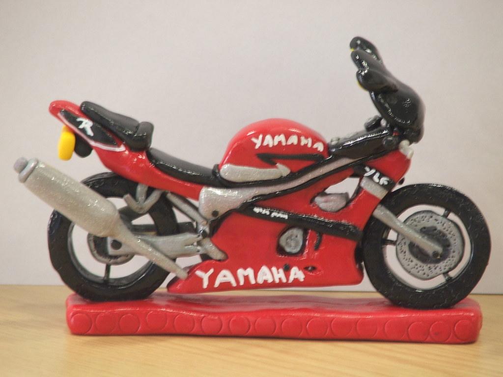 YAMAHA MOTORBIKE BIRTHDAY CAKE TOPPER This Yamaha Motorbik Flickr