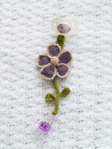 Pacifier Clip Flower | by knitted fresh daily