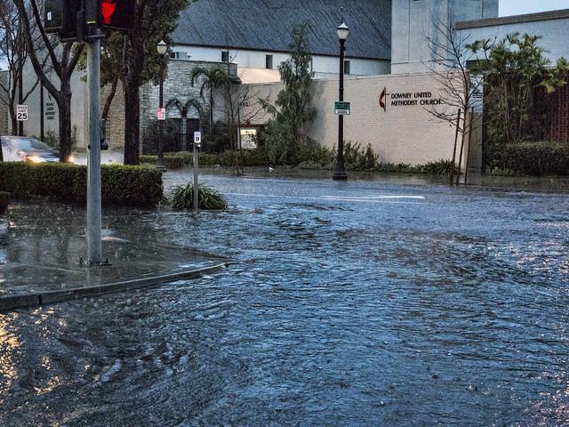 Rainstorm Downey Ave.